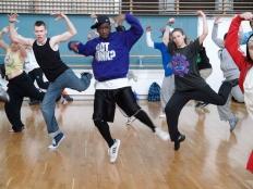 Group of hip hop dancers