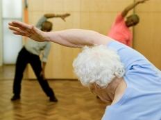Seniors stretching