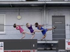 Three tap dancers